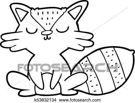 Cute Cartoon Raccoon Clipart