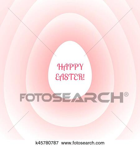 Clip art of easter greeting card gently pink with a stylized white easter greeting card is a soft pink color with a stylized white easter egg and the words happy easter m4hsunfo