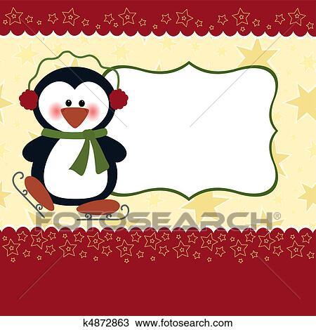 leer schablone f r weihnachtsgr e karte clipart. Black Bedroom Furniture Sets. Home Design Ideas
