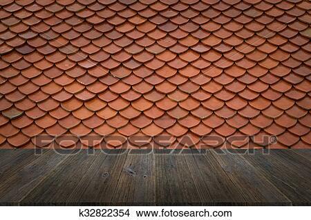 Madera Terraza Y Azotea Del Azulejo Textura Foto