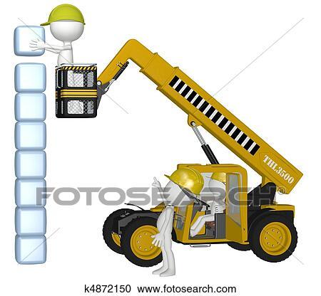 banque d 39 illustrations mat riel construction gens b timent cubes pile k4872150. Black Bedroom Furniture Sets. Home Design Ideas