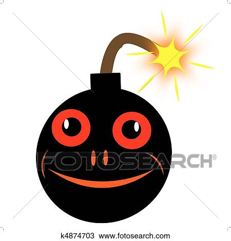 Clipart Bombe clipart of merry round bomb with alight wick k4874703 - search clip
