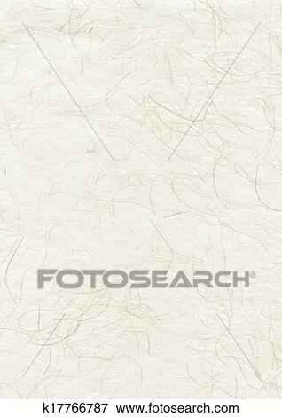 Natural japanese recycled paper texture Stock Photo