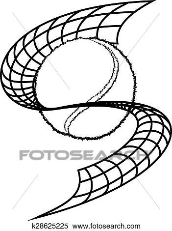 Clipart Of Tennis Net Swoop K28625225