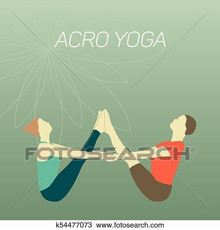 acro yoga 5 clipart  k54477073  fotosearch