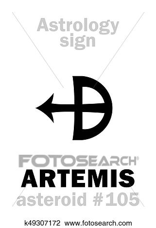 Astrology Asteroid Artemis Clipart K49307172 Fotosearch