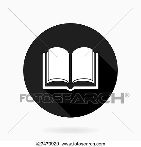 Boek Pictogram Met Platte Motieven Stock Illustraties