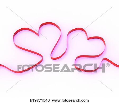 Banco De Fotografías Cinta Corazones Significado Romántico