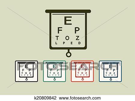 Clipart Of Eye Chart Test Illustration K20809842 Search Clip Art