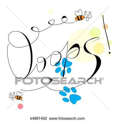 clipart of inscription ooops k4881452 search clip art rh fotosearch com Obstacles Clip Art Refill Clip Art
