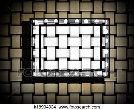 Drawings of Abstract grunge beige yellow matting frame k18994034 ...