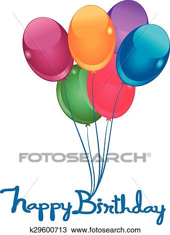 Happy Birthday Balloons Clipart K29600713