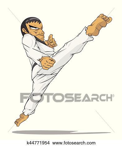 Korea Taekwondo Master Martial Art Clipart K44771954 Fotosearch