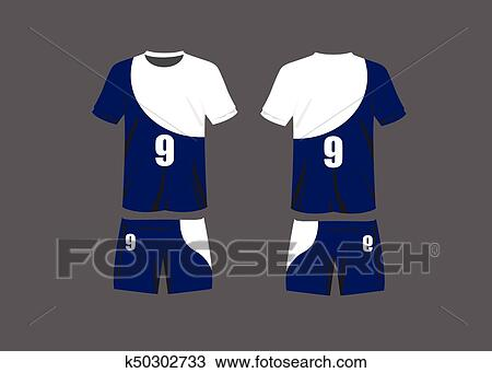 90cb6fd191b Vector Illustration design Clipart. Clipart - Soccer jersey template. Mock  up Football uniform for football club. Team apparel