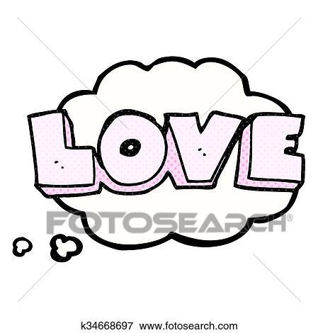Clipart a pens bulle dessin anim mot amour - Clipart amour ...