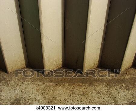 Stock Photography Of Detail Of A Metal Garage Door Shutter K4908321