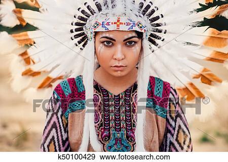 Banque De Photographies Figure De Indien Amerique Femme