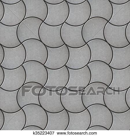 stock illustration of gray pavers seamless tileable texture