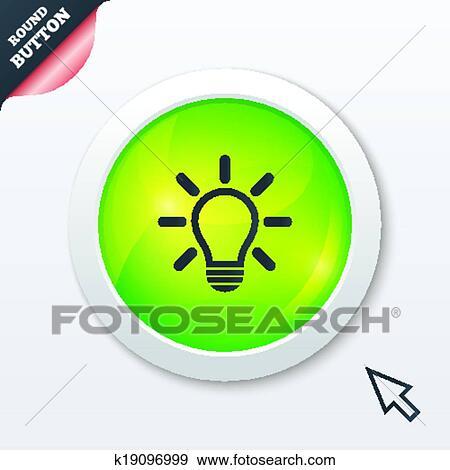 Clip Art - licht, lampe, zeichen, icon., idee, symbol. k19096999 ...