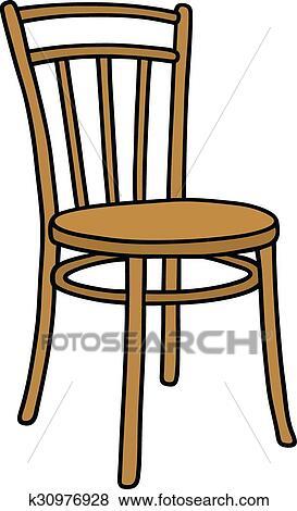 clipart vieille chaise bois k30976928 recherchez des cliparts des illustrations des. Black Bedroom Furniture Sets. Home Design Ideas