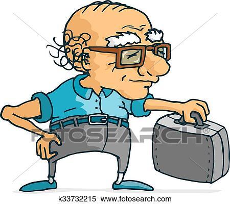 Clipart a n actif homme valise pr t pour voyage - Dessin de valise ...