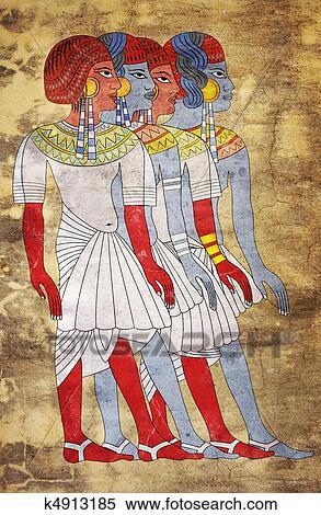 Fresque De Femmes De Egypte Antique Banques De Photographies