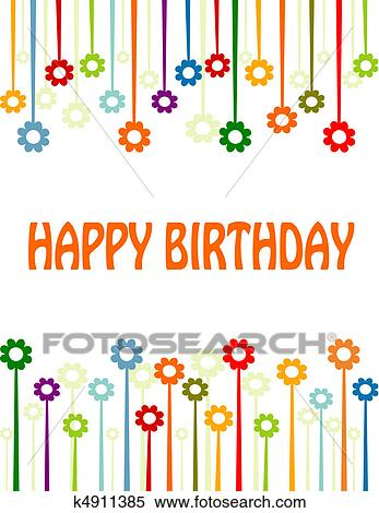 Clipart Of Happy Birthday Card K4911385 Search Clip Art