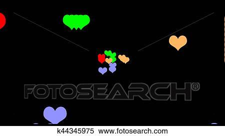 Stock Illustration Of Happy Valentine S Day Celebration Love Symbols
