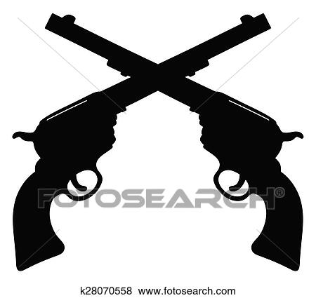 clip art of old american handguns k28070558 search clipart rh fotosearch com old west town clipart old western clip art