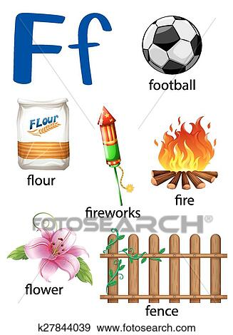 Things That Start With The Letter F Clip Art
