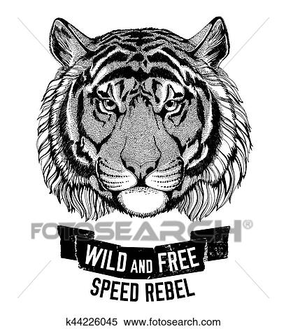 Stock Illustration Of Wild Tiger Wild Cat Be Wild And Free T Shirt