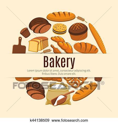 حب Bread حلويات الطعام راية Clip Art K44138509 Fotosearch