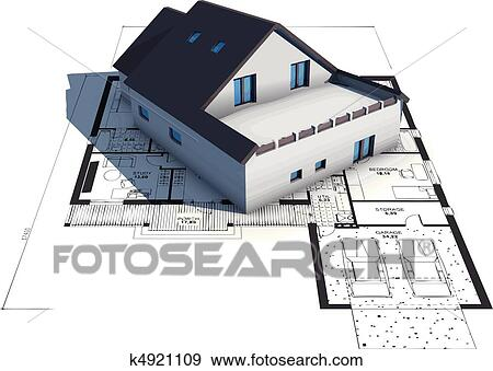 architecture blueprints.  Architecture Vector Of A House On Top Architecture Blueprints Inside Architecture Blueprints