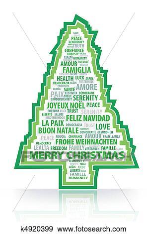 Weihnachten Wörter.Dass Magie Wörter Von Dass Weihnachten Tr Clip Art