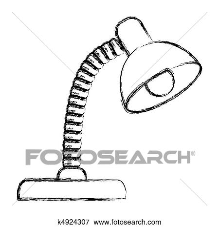 Clip Art Desk Lamp Ilration Fotosearch Search Clipart Posters Drawings