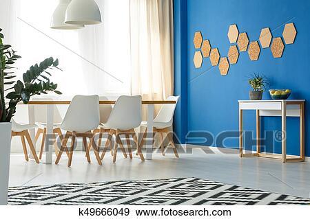 Blauwe decoratie woonkamer fris woonkamer aan de muur grijze
