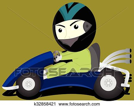 clipart of the funny gokart k32858421 search clip art