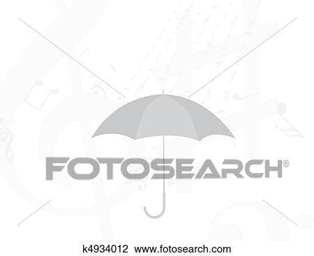 Abstract Rain Of Music Notes And Symbols Drawing K4934012