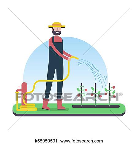A happy farmer character - Download Free Vectors, Clipart Graphics & Vector  Art
