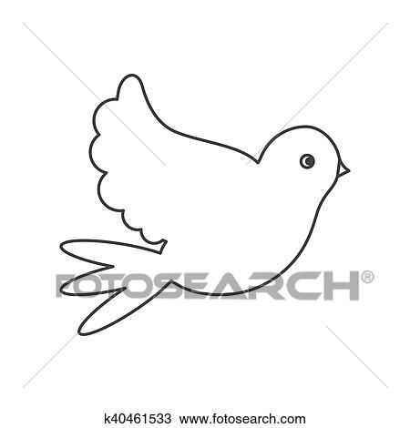 Isolato Colomba Disegno Uccello Clipart K40461533