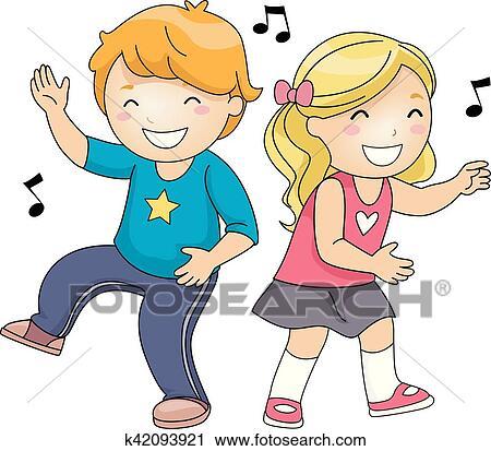 Little Girl Dancing The Floss Cartoon Clipart Vector - FriendlyStock