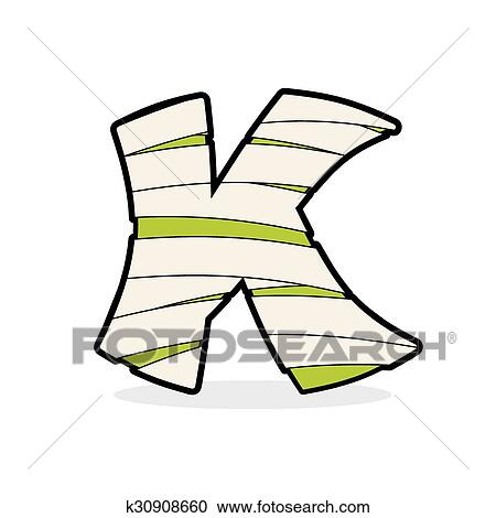 Letter K Monster Zombie Mummy Abc Icon Alphabetical Icon Medical