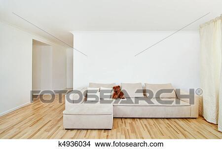 Moderne, intérieur maison, à, gratuite, mur Image