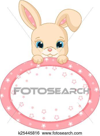 Clip Art of Rabbit frame k25445816 - Search Clipart, Illustration ...