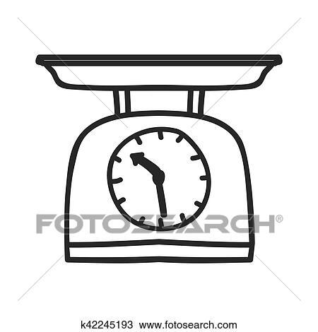 Clipart silhouette monochrome cuisine balance poids k42245193 recherchez des clip arts - Dessin de balance ...