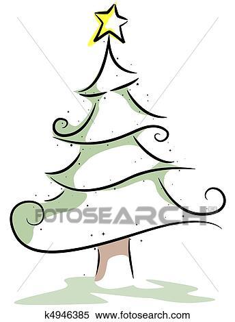 Arvore Natal Desenho Arquivos De Ilustracao K4946385 Fotosearch