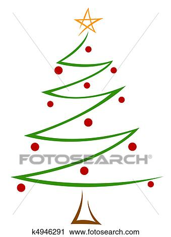 Arvore Natal Desenho Clipart K4946291 Fotosearch