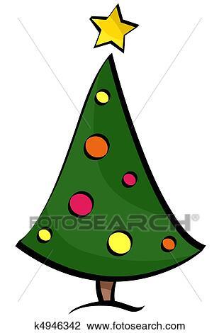 Arvore Natal Desenho Desenho K4946342 Fotosearch