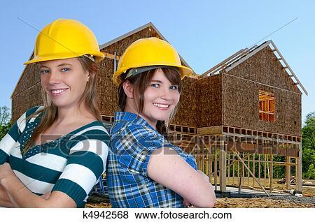 Bilder Bauarbeiterin K4942568 Suche Stockfotos Bilder Print