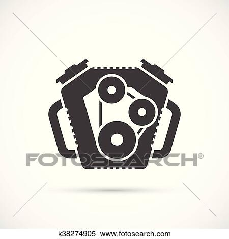 Car Engine Icon Clipart K38274905 Fotosearch